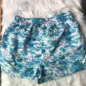 LL Bean outdoors womens Hawaiian swim trunk  short